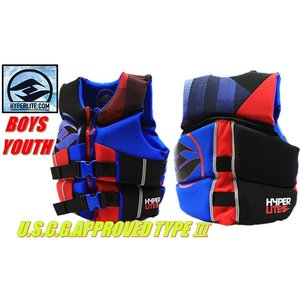 (HO SPORTS) HYPER LITE ライフジャケット LIFE JACKET (子供用 ライフジャケット) 男の子用 高性能ライフジャケット 素肌にも着心地の良いウエット素材 ジェッ|ajmart