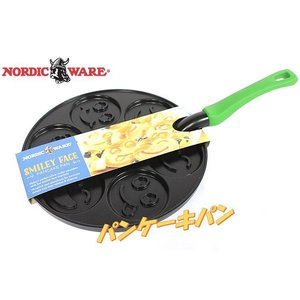 (Nordic Ware ノルディックウェア) パンケーキパンスマイリー/アニマルパンケーキ フライパンノルディックウェアー/スマイル フェイス/動物/(IHには対応してお|ajmart