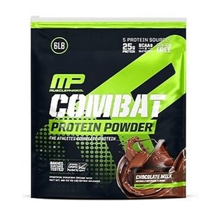COMBAT PROTEIN POWDER  コンバット プロテイン パウダー 6LB  2722g タイムリリース マッスルファーム・コンバットパウダー チョコレートミルク|ajmart