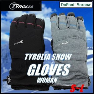 (TYROLIA チロリア) レディース スノーグローブ スキー・スノーボード スノーグローブ/手袋/女性用/レディース/WOMAN/グローブ/ブラック/グレー/スマ|ajmart