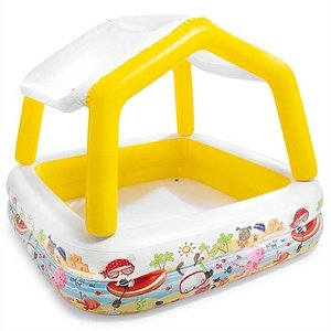 INTEX インテックス ホエールシェードプールサンシェード付き/水遊びファミリープール/日よけ屋根付き/家族/親子で/子供こども用/ファミリー/ビニールプール/子|ajmart