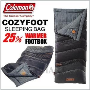 コールマン寝袋 コージーフット  Coleman COZYFOOT グレー系 封筒型寝袋 シュラフ  スリーピングバッグ キャンプ アウトドア コールマン/寝袋|ajmart
