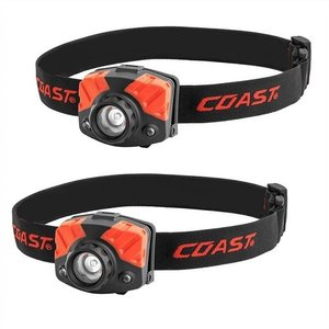 【COAST】LED ヘッドランプ 2個セット LED ヘッドライト(単4電池×6本付) 405ルーメン 3段階切替可 白色/赤色/釣り/フィッシング/懐中電灯/LED/キャンプ/アウ|ajmart