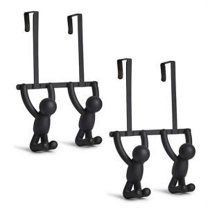 【umbra】バトラー  ダブル ドアフック  2個セット ブラック BUTLER OTD HOOKS BUDDY/バディ/ドアハンガー/コートハンガーー壁掛け/コンパクト/収納/省スペース|ajmart