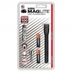【MAGLITE】マグライト  MINI ミニ LED フラッシュライト ブラック  明るさ100ルーメン 2AAA  単四電池×2本使用 MAGLITE MINI LED 2-CELL AAA FLASHLIGHT SP320 ajmart