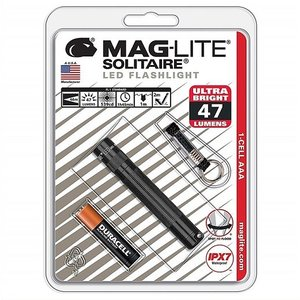 【MAGLITE】マグライト  ソリテール LED フラッシュライト ブラック  明るさ47ルーメン 1AAA  単4アルカリ電池×1本使用 MAGLITE Solitaire LED 1-CELL AAA FLAS|ajmart