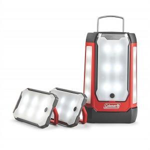 【Coleman コールマン】 LED マルチパネルランタン 3パネル LED 600ルーメン ランタン 3面分散可 3つに分かれるLEDランタン!電池式/USBポート付/|ajmart
