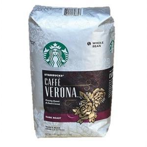 大容量!1.13kg スターバックス  STARBUCKS COFFEE CAFFE VERONA カフェ ベロナ  豆 1.13kg ダークロースト/スタバ/コーヒー豆 /珈琲 /COSTCO /コストコ ajmart