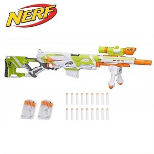 【NERF】 ナーフ Nストライク エリート Longstrike Nerf Modulus Toy Blaster with Barrel Extension ロングストライク/スポーツトイガン/おもちゃの鉄砲|ajmart