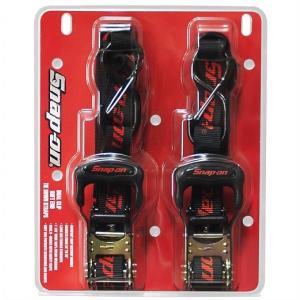 【SNAP-ON】 スナップオン 19544P-SNAP Ratchet Tie Down ラチェット式 タイダウンベルト 2本セット ラッシングベルト バイク/ジェットスキー/バギー/材木/ボー|ajmart