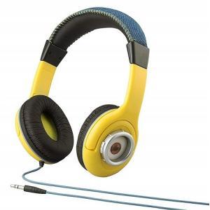 ミニオンズ ヘッドホン  音量制限機能付き   ●お子様のご使用に安心のボリューム制限機能を内蔵。 ...