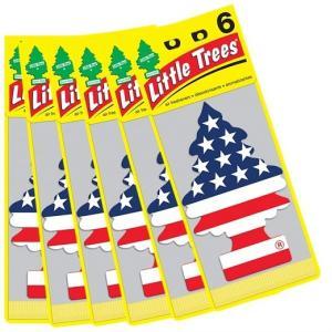 【Little Trees リトルツリー】エアフレッシュナー 芳香剤 バニラプライド 6枚入り Vanilla Pride/吊り下げ/長持ち/消臭剤/車/カー用品/車内用/カーフレッシュナ|ajmart