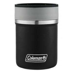 【Coleman コールマン】 ステンレススチール缶クーラー 350ml缶用 保冷缶ホルダー ブラック ジャストフィット 真空断熱 ステンレス ラウンジャー/キャンプ/スポ|ajmart