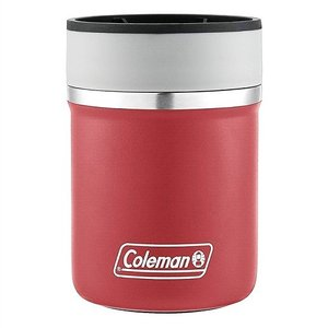 【Coleman コールマン】 ステンレススチール缶クーラー 350ml缶用 保冷缶ホルダー ヘリテージ レッド ジャストフィット 真空断熱 ステンレス ラウンジャー/|ajmart