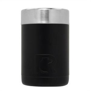 【RTIC】 ステンレススチール 缶クーラー 350ml缶用 保冷缶ホルダー ブラック ジャストフィット 真空断熱 ステンレス キャンプ/スポーツ観戦/釣り/バーベキュー/ ajmart