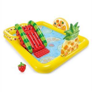 INTEX インテックス フィッシング プレイセンター ファミリープール 水遊び 滑り台/スプレー/大型プール/家族/親子で/子供こども用/ファミリー/ビニールプール/|ajmart