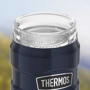【Thermos/サーモス】 ステンレス スチール 缶クーラー 350ml缶用 保冷缶ホルダー ミッドナイトブルー ドリンクリッド付き/Stainless King/ステンレスキング/|ajmart|04