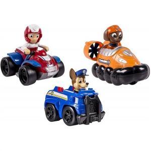 パウパトロール レーサーズ ビークル 3台セット チェイス&ズーマー&ケント Racers 3-Pa...
