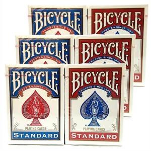 BICYCLE  バイスクル トランプ 6個 スタンダードフェイス STANDARD FACES (レッド3 ブルー3) PLAYING CARDS /カード【手品】【マジック】【マジック用品】【手|ajmart
