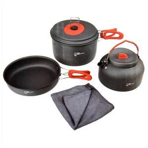 【COHO】 キャンピング クックウェアセット アルミ調理セット フードクッカー/鍋/フライパン/ケトル/キャンプ/アウトドア/釣り/登山/バーベキュー|ajmart