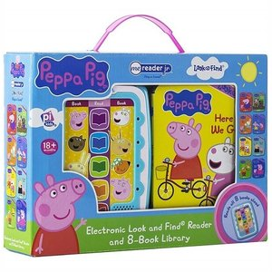【Peppa Pig 】 ペッパピッグ ミーリーダー 絵本8冊セット 英語の自動再生付き 英語絵本 Me Reader Electronic Reader Jr and 8-Book Library ajmart