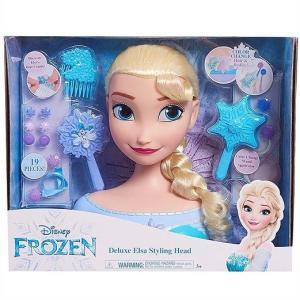 【Disney】 ディズニー フローズン アナと雪の女王 デラックス エルサ スタイリングヘッド ヘアメイク/ヘアアレンジ/フィギュア/人形/髪遊び/子供用/女の子用|ajmart