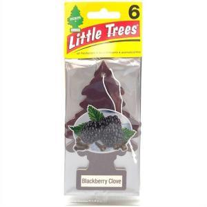 【Little Trees リトルツリー】 エアフレッシュナー 芳香剤  ブラックベリークローブ 6枚入り Blackberry Clove/吊り下げ/長持ち/消臭剤/車/カー用品/車内用/カ|ajmart