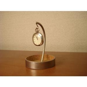 懐中時計スタンド 丸いトレイ懐中時計スタンド