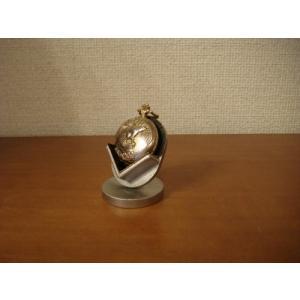 懐中時計スタンド 懐中時計 をディスプレイ  ブラックコンパクト懐中時計スタンド