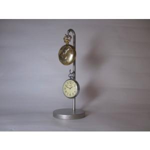 懐中時計スタンド 新作 上下2本掛け懐中時計ディスプレイスタンド