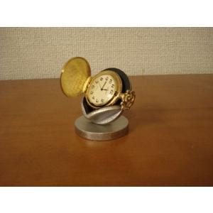 懐中時計スタンド ブラック横開き懐中時計ディスプレイスタンド