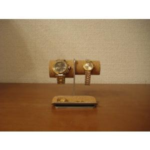 時計 飾る インテリア 左男性用、右女性用トレイ付き腕時計スタンド No.130226