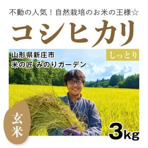 【玄米3kg】自然栽培のコシヒカリ 山形県「みのりガーデン」|ak-friend