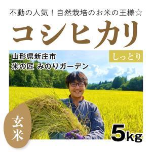 【玄米5kg】自然栽培のコシヒカリ 山形県「みのりガーデン」|ak-friend