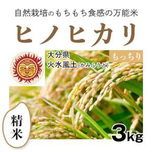 【精米3kg】自然栽培のヒノヒカリ 大分県「火水風土」・お米...