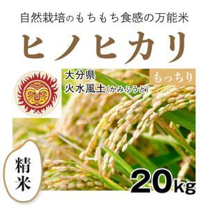 【精米20kg】自然栽培のヒノヒカリ 大分県「火水風土」・お米|ak-friend