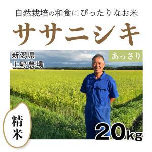 【精米20kg】自然栽培のササニシキ 新潟県「上野農場」・お米|ak-friend