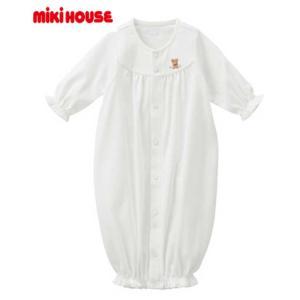【ミキハウス】 ワンポイント刺繍ツーウェイオール【41-2601-563】白 50〜60cm(秋〜)MIKIHOUSE|akachandepart