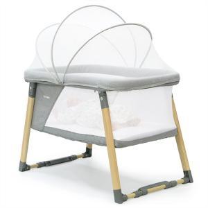 リビングベッド 2in1 BABY crib【HV-01-GR】ヤトミ 折り畳み ミニ バシネット ...