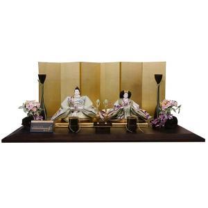 [雛人形・ひな人形]藤匠作 はなぐるま【親王飾り】【平飾り】【創作雛】 akachandepart