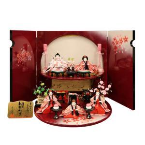雛人形 五人飾り 雛ごよみ 赤二段 千匠作