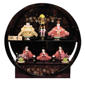 雛人形 紙音 五人飾り コンパクト akachandepart