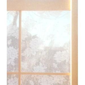 貼り方簡単・花柄  100cm(幅)×200cm(高さ)2枚入り 明るい和室にしたい方に向いています。|akagilace-poster