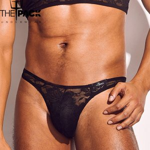 THE PACK/Bruno Lace Thong メンズ T メンズインナ セクシー フロントアップ  贅沢なレース ビキニ|akahimensfashion