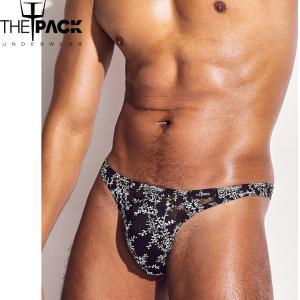 THE PACK/Bryce Lace Thong メンズ T メンズインナ セクシー フロントアップ 贅沢なレース スタイル ビキニ|akahimensfashion