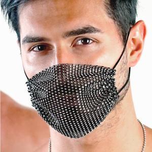 ThePack Rhinestone Fashion Mask マスク  大人用 マスク装飾用 ダイヤモンド ファッション オルタナティブ ぴかぴか|akahimensfashion