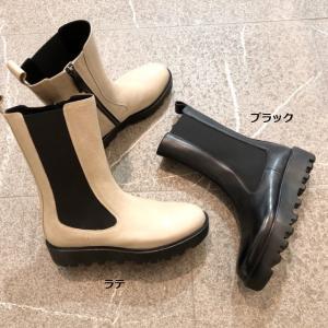 2021秋冬再入荷 meme ミーム サイドゴア ブーツ ミドル丈 厚底 ジッパー シューズ 靴 24me32099|akai-kutsu
