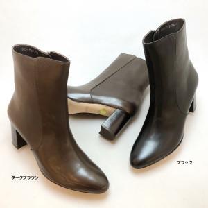 2021秋冬新作 YOSHITO ヨシト  ショートブーツ プレーン ファスナー 革底 靴 1709|akai-kutsu