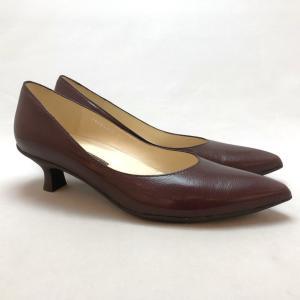YOSHITO ヨシト パンプス プレーン シンプル ローヒール 靴 85yst4410dbd|akai-kutsu