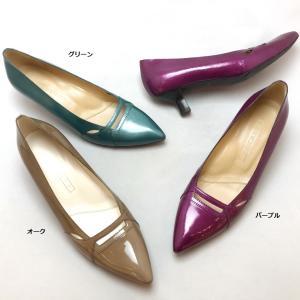 YOSHITO ヨシト パンプス エナメル ローヒール 靴 85yst4442|akai-kutsu